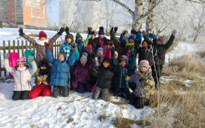 Sovičky na sněhu