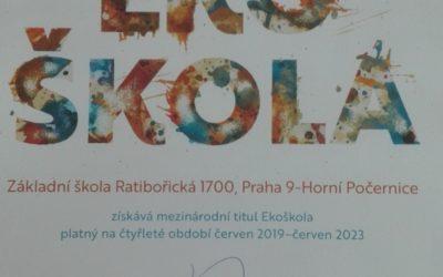 Titul Ekoškola obhájen na další 4 roky !